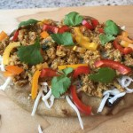 Naan Pizza, Indian ground chicken Keema pizza