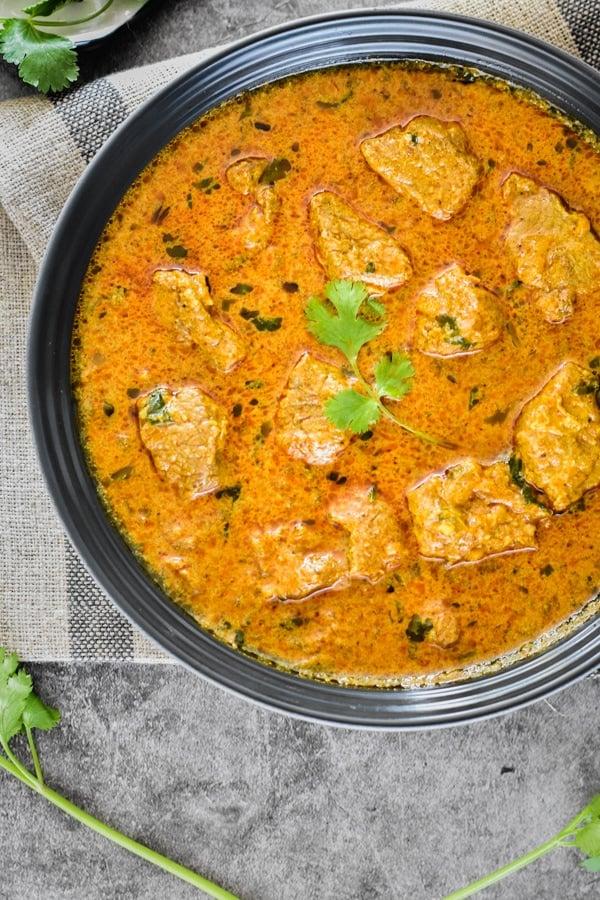 Instant pot indian recipe for Lamb Korma