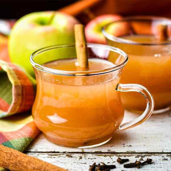 Instant Pot Spiced Apple Cider topshot