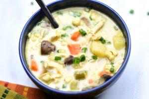 Gluten Free Corn and Chicken Chowder- instant pot, Pressure Cooker