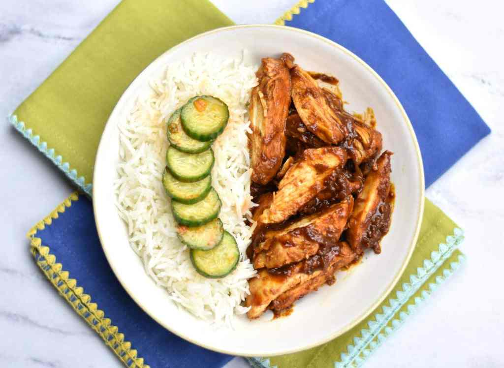 Chicken marinated Bulgogi-style, with Gochujang, ginger, garlic, honey, onion and grated pear. Instant Pot Korean Spice Chicken is simple and delicious. #food #foodie #foodblogger #delicious #recipe #instantpot #recipes #easyrecipe #cuisine #30minutemeal #instagood #foodphotography #tasty #koreanfood #SpiceCravings