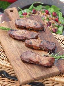 LAMB LEG STEAKS IN A HERB MARINADE-Best Barbecue Recipes