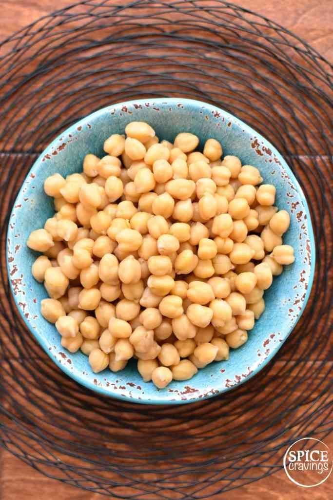 Instant Pot cooked Chickpeas