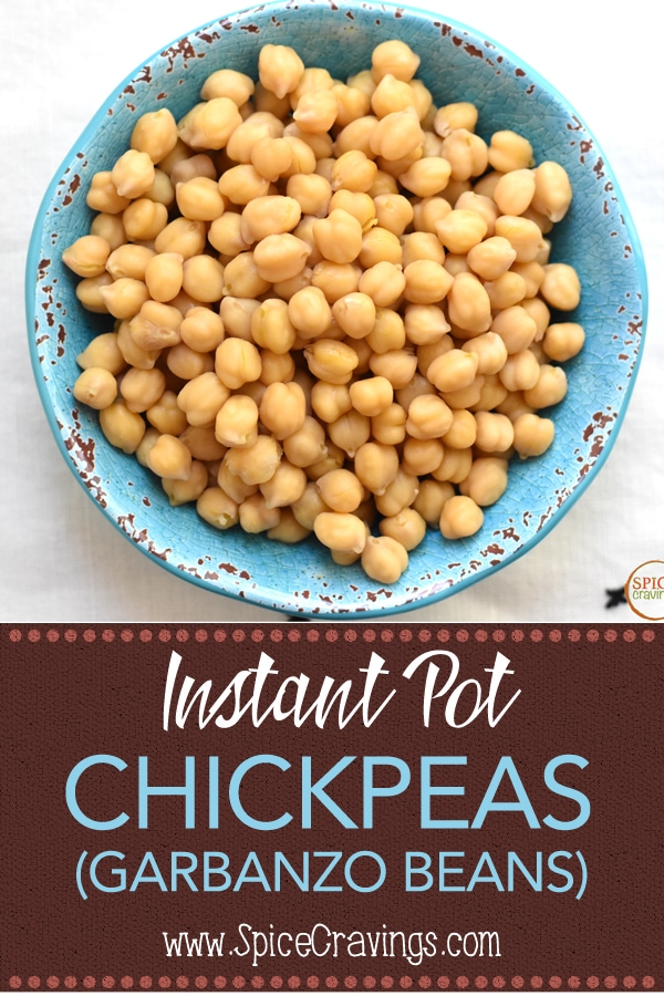Try this easy recipe by Spice Cravings for cooking dried chickpeas in an Instant Pot or pressure cooker. #spicecravings #chickpeas #garbanzo #beans #instantpotrecipes #pressurecookerrecipes #food #foodie #foodblogger #delicious #easy #recipe #instantpot  #recipes #easyrecipe  #instagood #foodphotography #tasty  #curry  #indian