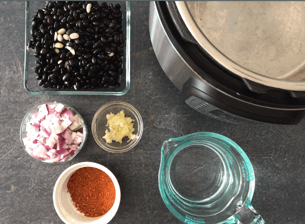 Ingredients needed to make tex-mex black beans in the Instant Pot