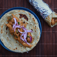 Chicken Kathi Roll (Eggless)