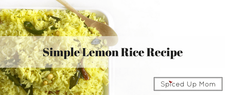 south indian tangy lemon rice made with leftover rice
