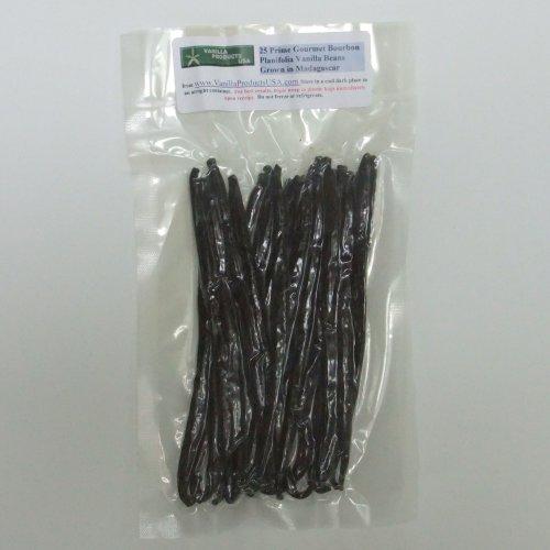 25 Madagascar Bourbon Planifolia Grade A Gourmet Vanilla Beans 6~7″