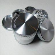 2.2″ – Silver 5 Piece SharpStone® Aluminum Herb Grinder