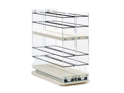 Spice Rack w/2 Drawers each with 2 Shelves – 24 Spice Capacity – Easy to Install