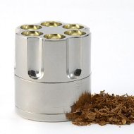 Mini Portable Metal Spice Herb Grinder Sharp Razor Teeth Pollen Screen Storage Space Case