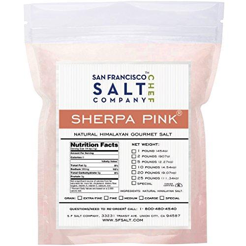 Sherpa Pink Gourmet Himalayan Salt (25lb Bag Medium Grain)