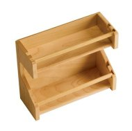 Omega National Products Spice Rack Adjustable 11 3/4″ Maple