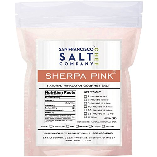 Sherpa Pink Himalayan Salt (1lb Bag Extra-Fine Grain)