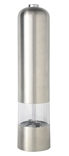 Kobwa(TM) Silver Stainless Steel Portable Muller Mill Manual Pepper Grinder With Kobwa's Keyring