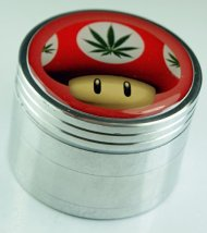Red Mushroom Weed Fashion Design Indian Aluminum Spice Herb Grinder