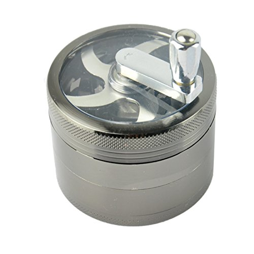 Jiatai Hand Crank Chamber Grinder for Herb/Spice/Tobacco/Coffee with black color