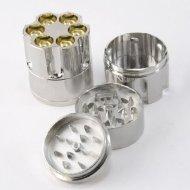 Easy Grind Pollen Herb Tobacco Spice Grind Grinder Revolver Gun Mini Bullet Cylinder Shap 3 Pieces Metal