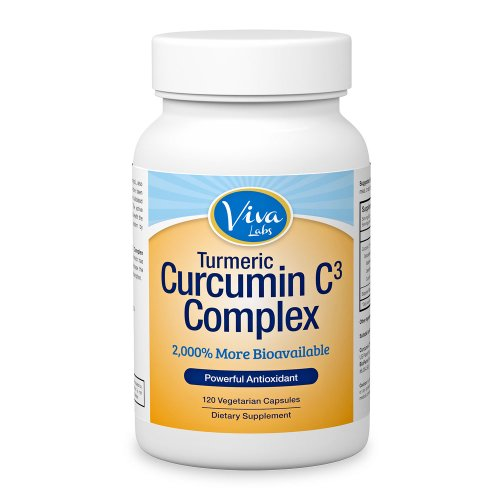 Curcumin C3® (Turmeric) w/ Bioperine® – 2,000 % More Bioavailable 500mg, 120 capsules