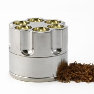 Cool88 Revolver Gun Bullet Cylinder Shap 3 Pieces Metal Pollen Herb Spice Grind Grinder