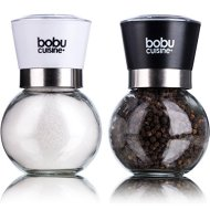 Stunning Glass Sphere Salt and Pepper Grinder Set – Easily Adjustable Grinder to Control Coarseness – Cover Lid to Keep Freshness – By Bobucuisine