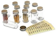 DecoBros 12 Spice Bottles w/ label Set