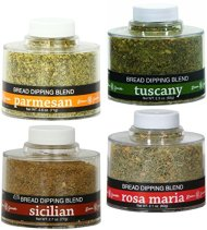 Dean Jacob's Bread Dipping Blend Variety Pack – Parmesan, Tuscany, Sicilian, Rosa Maria