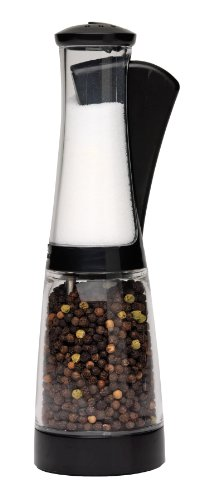 Chef'n Bistro Combo Grinder, Black and Clear