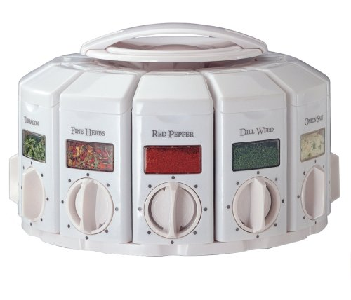 KitchenArt 25000  Auto Measure Spice Carousel without Spices, White