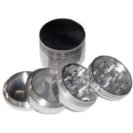 Four Piece NEW STYLE 2 1/4′ Herb, Spice or Tobacco Pollen Grinder