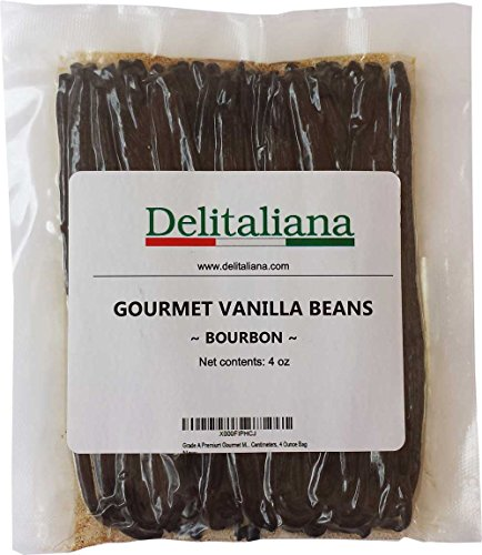 Grade A Premium Gourmet Madagascar Bourbon Vanilla Beans , Fresh Prime, Approximatelly 17 Centimeters, 4 Ounce Bag
