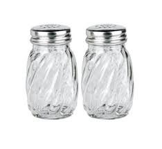 Anchor Hocking Swirl Glass Salt and Pepper Shaker with Lid, 3¼ oz. (Set of 2)
