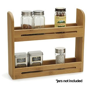 Two-Tier Natural Bamboo Spice Rack