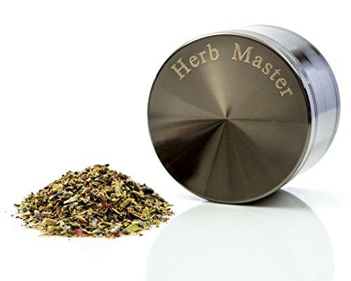 Herb Master Heavy Duty 2.5 Inch 4 Piece Tobacco Spice Herb Grinder