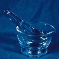 Mortar and Pestle Sets, Glass – Each (8 OZ) – Model 50415-063