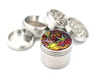 Psychedelic Weed Design Indian Aluminum Spice Herb Grinder With Design Item #100814-0013