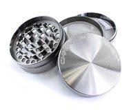 Chromium Crusher Zinc 4 Piece Gunmetal Tobacco Spice Herb Grinder (3.0″)