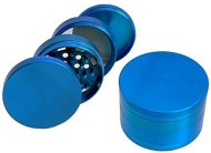 Herb, Spice or Tobacco Grinder and Mill Blue 4 Pieces 2.5″ with Pollen Catcher & Scraper