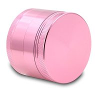 DCOU Large Aluminum Pollen Tobacco Grinder / Spice Grinder / Herb Grinder / Weed Grinder, with Sifter,with Magnetic Cover, 4 Piece 2.5 Inches (Pink)