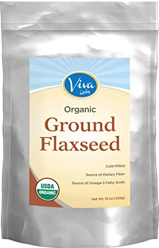 Viva Labs – The BEST Organic Ground Flax Seed, Proprietary Cold-milled Technology, 15 oz