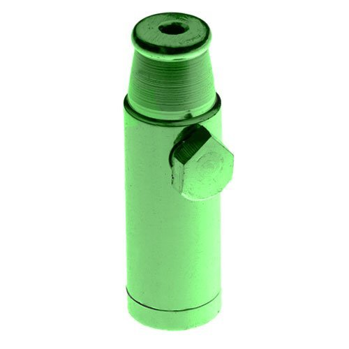 Metal Snuff Bullet Rocket Sniffer Snorter Color Green