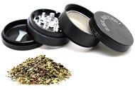 4-piece Weed Grinder By SGK Retail – Premium Anodized Aluminum – Lightweight, Versatile, & Compact – Also an Herb Grinder, Spice Grinder, Tobacco Grinder, & Pollen Catcher 2.2-inch, Large, Black