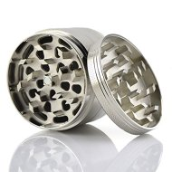 Premium Herb Spice Tobacco or Weed Grinder – Large 2.5 Inch 4 Piece with Pollen Catcher – Razor Sharp Teeth – 100% Guarantee