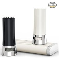 Gideon™ Magnetic Automatic Open/Close Salt and Pepper Shaker Set with Base