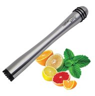 Drink Muddler, Stainless Steel Mojito Bar Tool with Nylon Tip