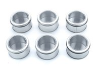 Bekith Clear-Top Spice Tins, Round, Set of 6