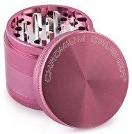 Chromium Crusher 2.5 Inch 4 Piece Tobacco Spice Herb Grinder – Pink