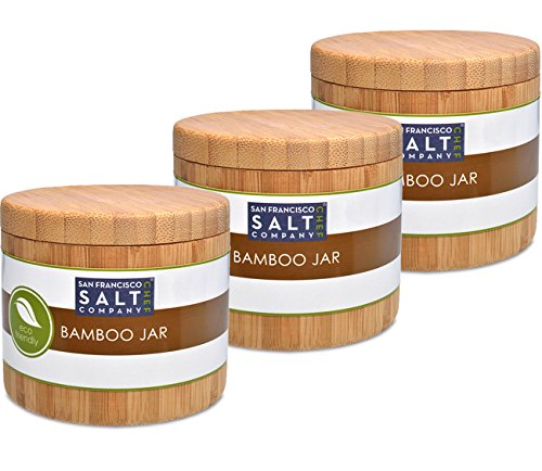 Bamboo Jar (Small 6oz salt jar – 3 pack)