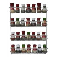 4 Tier Spice / Herb Rack Wall Mountable or Kitchen Cupboard Storage by Copa Design®