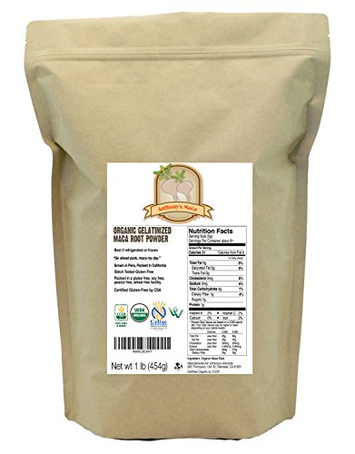 Organic Maca Root Powder (1lb) by Anthony's, Gelatinized, Certified Gluten-Free & Non-GMO